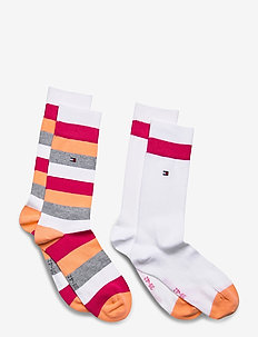 TH KIDS BASIC STRIPE SOCK 2P - strømper - pink lady