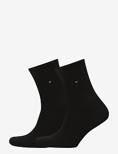 TH WOMEN SOCK CASUAL 2P - BLACK