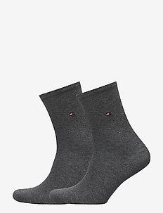TH WOMEN SOCK CASUAL 2P - sokker - middle grey melange