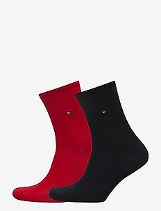 TH WOMEN SOCK CASUAL 2P - sokker - tommy red