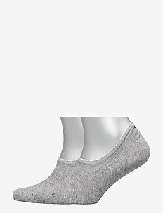 TH MEN FOOTIE 2P - ankelstrømper - middle grey melange