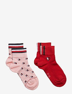 TH GIRLS FLAG AOP SHORT SOCK 2P - PINK COMBO