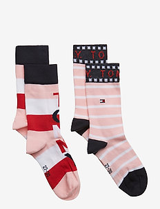 TH KIDS BLOCK SOCK 2P - PINK COMBO