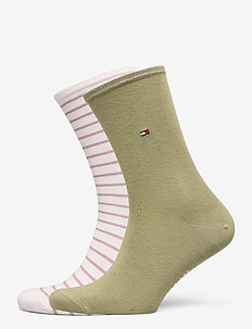 TH WOMEN SMALL STRIPE 2P - sokker - light pink