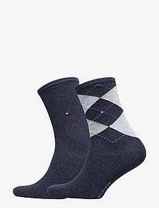 TH WOMEN CHECK SOCK 2P - strømper - jeans
