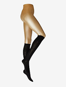 TH WOMEN 98% COTTON KNEEHIGH 1P - knästrumpor - black