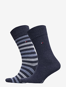 TH MEN DUO STRIPE SOCK 2P - vanlige sokker - jeans