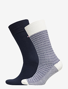 TH MEN SOCK 2P STRUCTURE KNIT - OFF WHITE