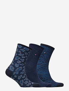 TH WOMEN SOCK 3P GIFTBOX LUREX - BLUE COMBI