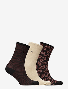 TH WOMEN SOCK 3P GIFTBOX LUREX - BORDEAUX