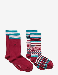 TH KIDS SOCK 2P MULTI COLOR - GRAPE