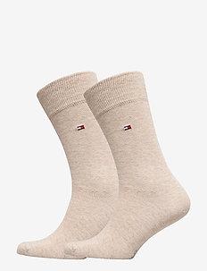 SOCKS 2-PAIRS - tavalliset sukat - light beige melange