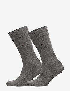 SOCKS 2-PAIRS - vanliga strumpor - middle grey melange