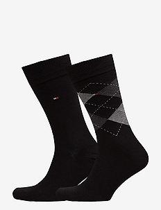 TH Men sock check 2-pack - regulære sokker - black