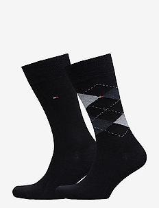 TH Men sock check 2-pack - regulære sokker - dark navy