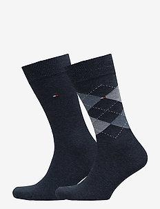 TH Men sock check 2-pack - regulære sokker - jeans