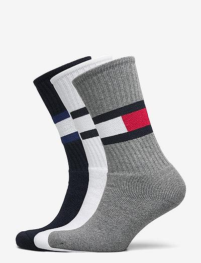 TH MEN SOCK 3P FLAG - regular socks - white / navy / grey