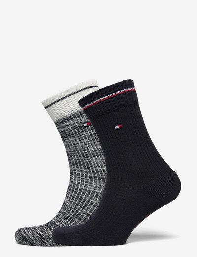 TH WOMEN 2P RIB RUNFREE - regular socks - navy