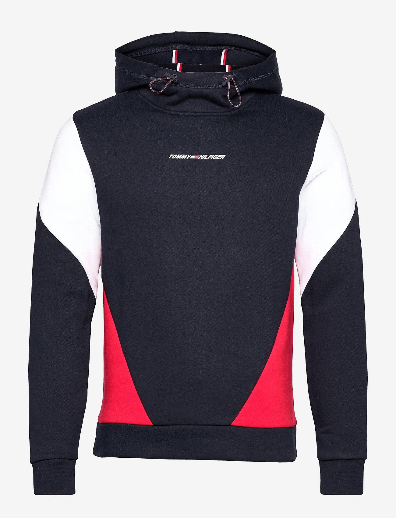 Tommy Sport - BLOCKED SEASONAL HOODY - hoodies - desert sky - 1