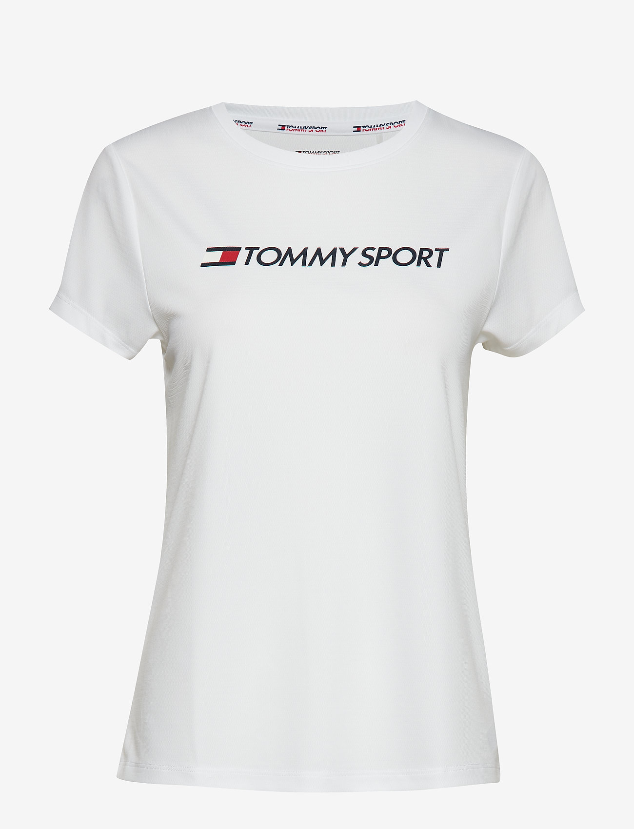 Tommy Sport - TEE CHEST LOGO - logo t-shirts - pvh white - 0