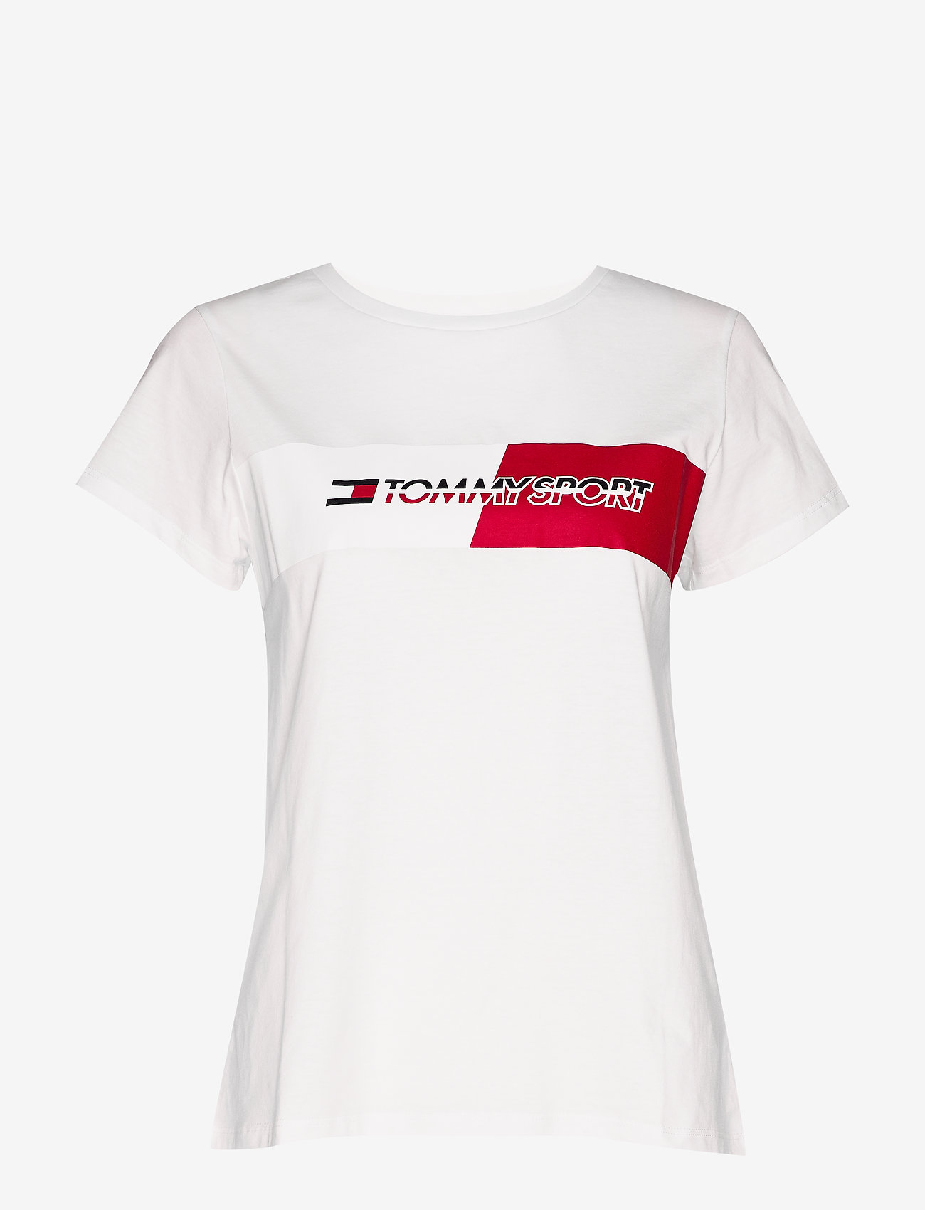 Tommy Sport - GRAPHIC FLAG TEE - logo t-shirts - pvh white - 0