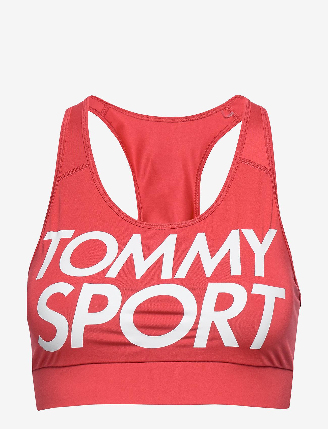 Tommy Sport - SPORTS BRA LOGO MID - sport bras: low - cardinal - 0
