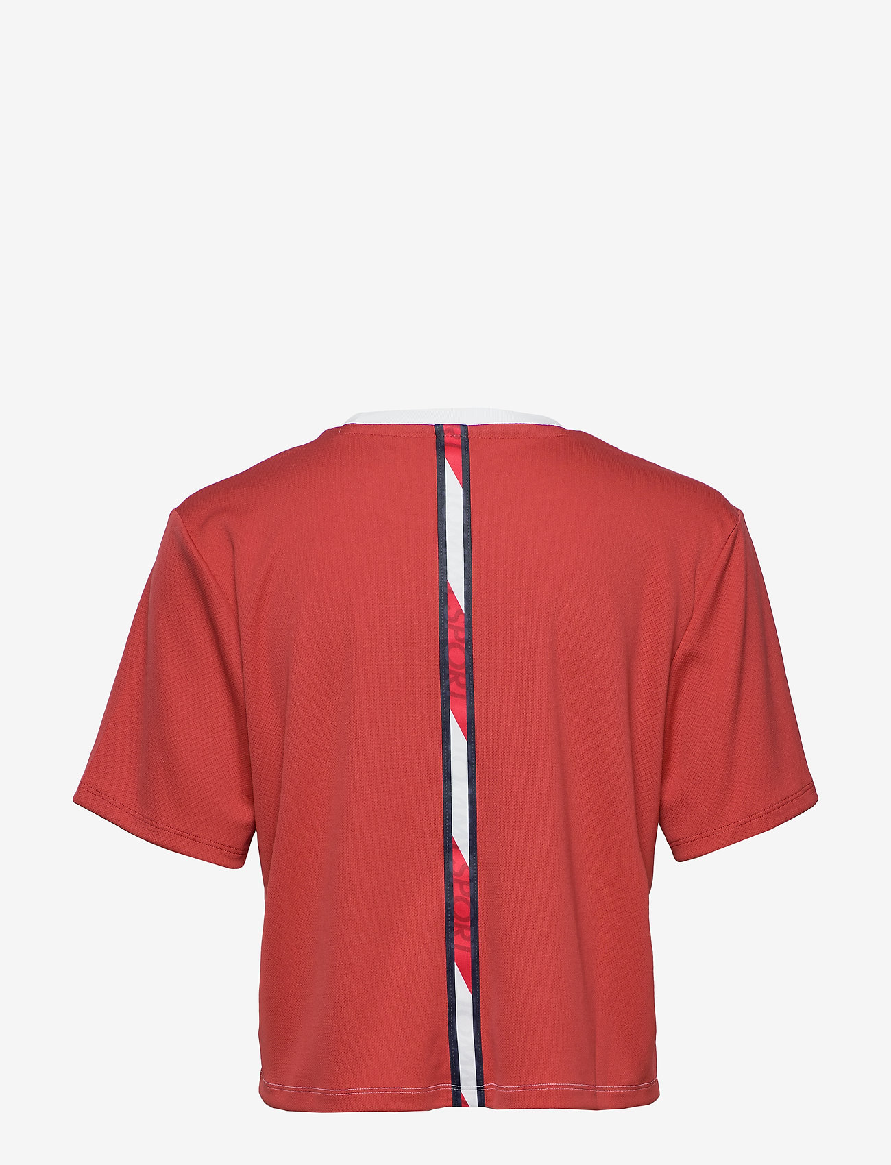 Tommy Sport - BOXY T-SHIRT SHORT SLEEVE - logo t-shirts - cardinal - 1