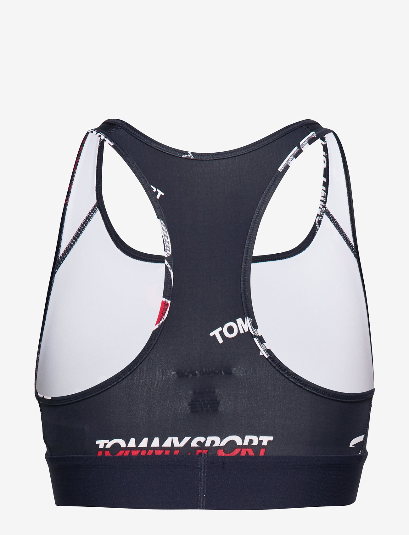 Tommy Sport - GRAPHIC BRA MID SUPP - sport bras: low - sport navy-all-over - 1