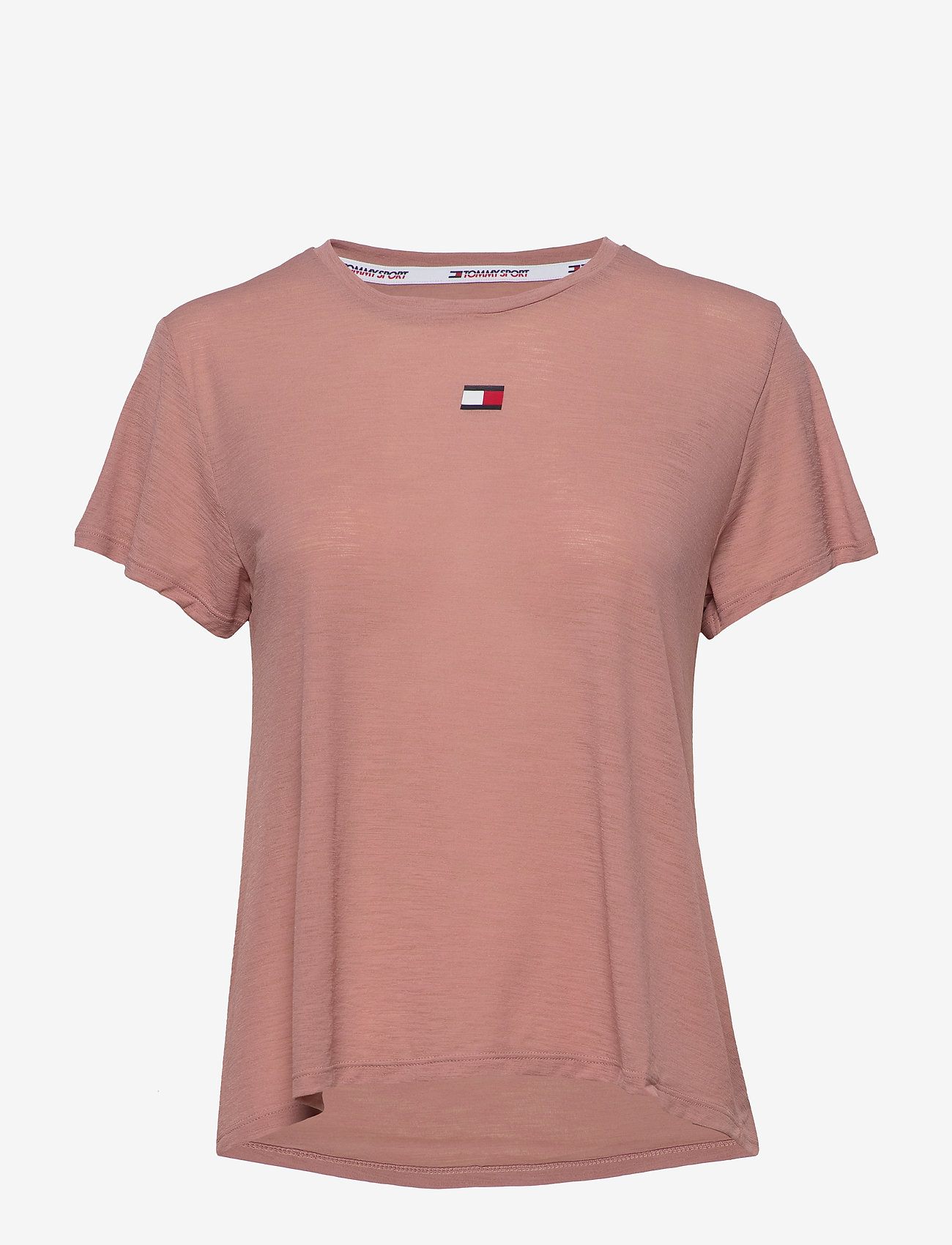 Tommy Sport - PERFORMANCE LBR TOP - t-shirts - red dust - 0