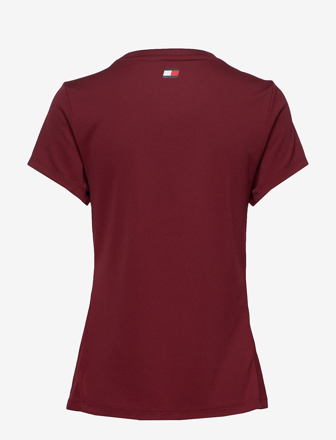 Tommy Sport - PERFORMANCE CHEST LOGO TOP - logo t-shirts - deep rouge - 1