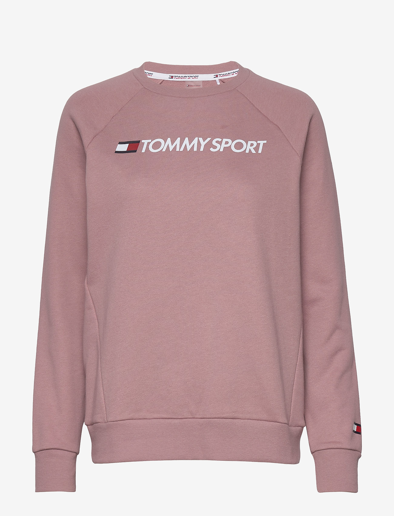 Tommy Sport - CREW SWEATER LOGO - sweatshirts - red dust - 0