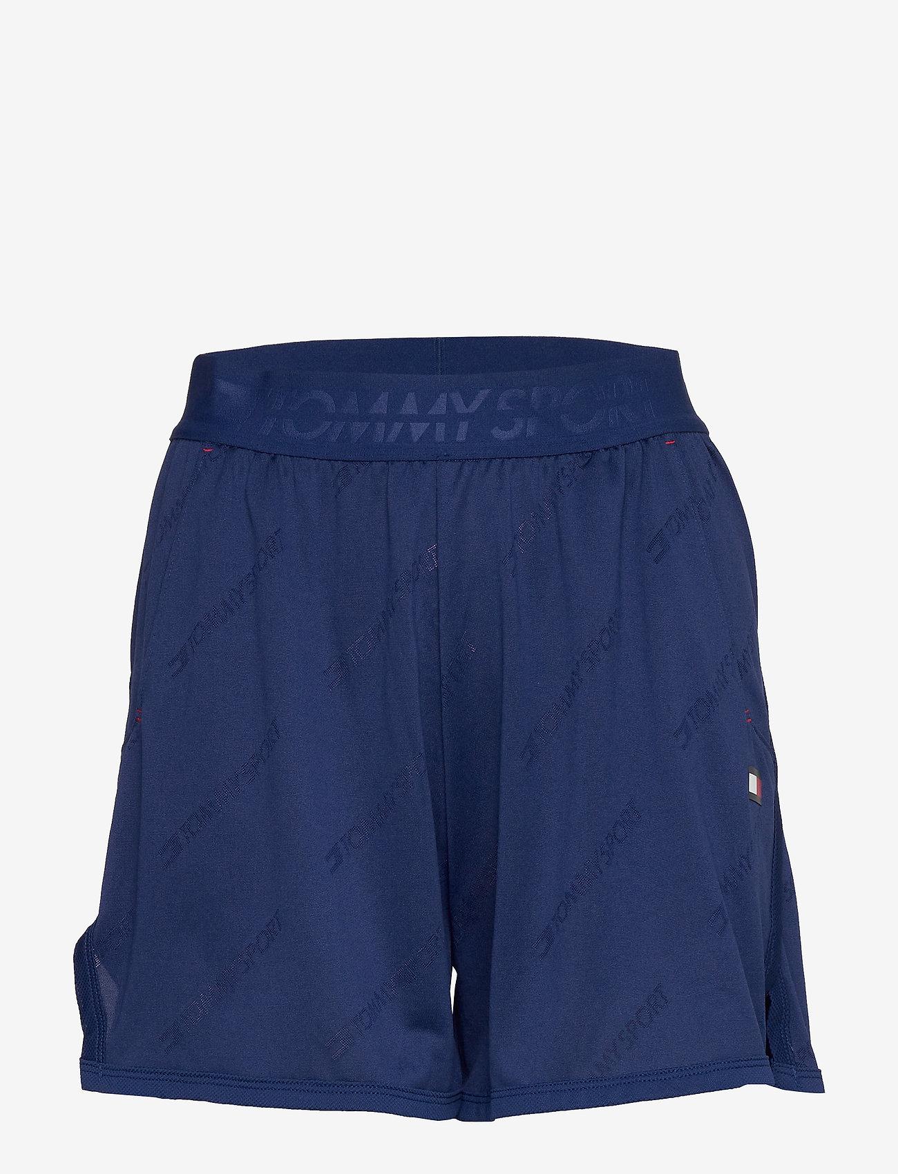"Tommy Sport - 5"" JACQUARD SHORT - spodenki treningowe - blue ink - 0"