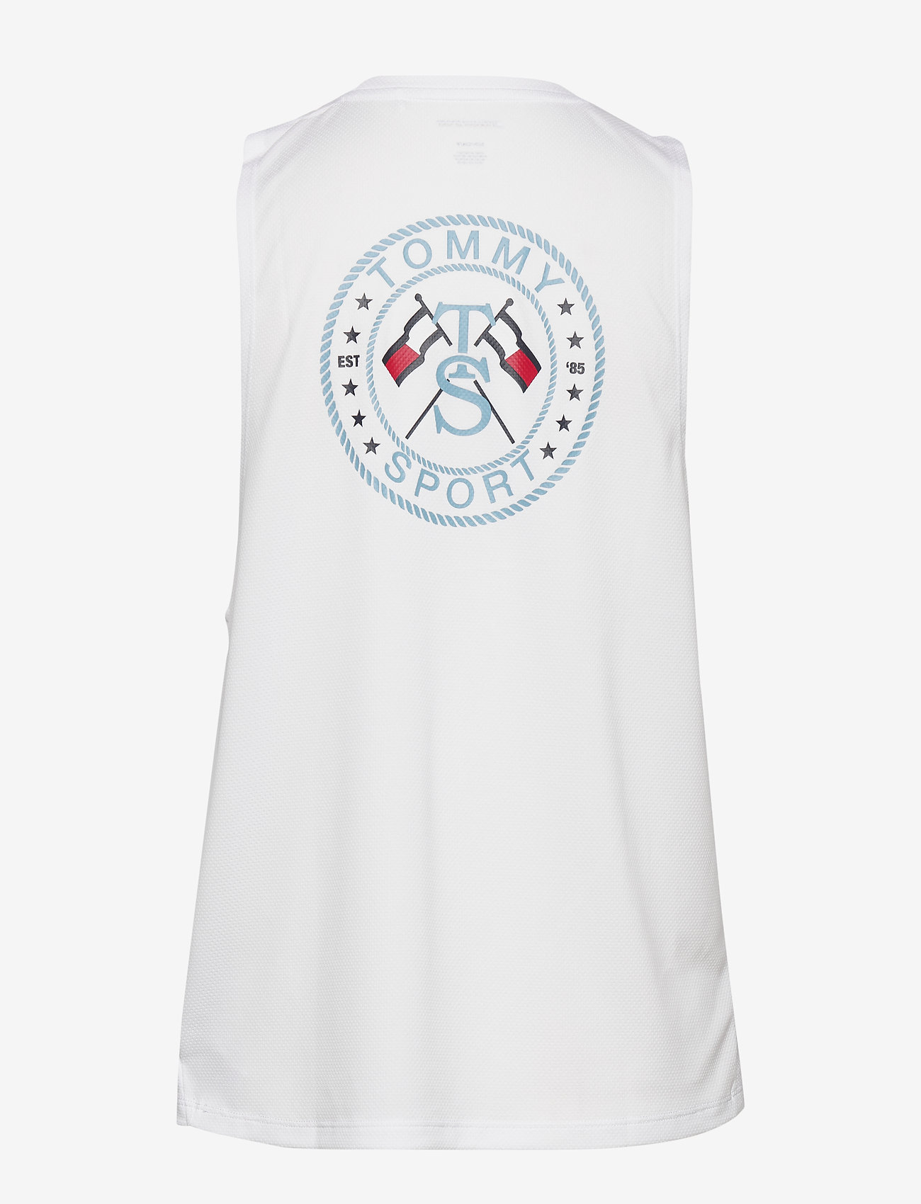 Tommy Sport - PERFORMANCE PRINTED TANK TOP - tank tops - white - 1
