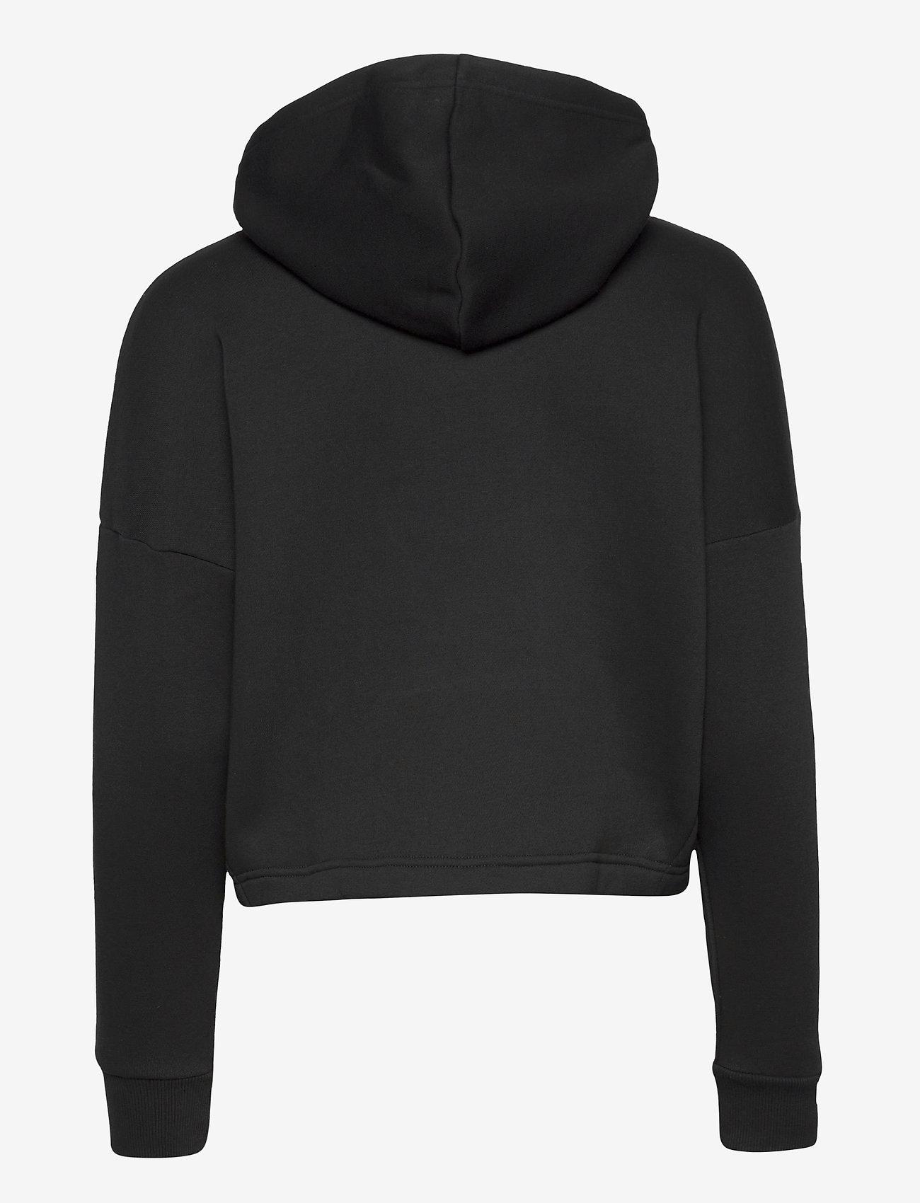 Tommy Sport - CROPPED HOODY FLAG LOGO - hoodies - pvh black - 1
