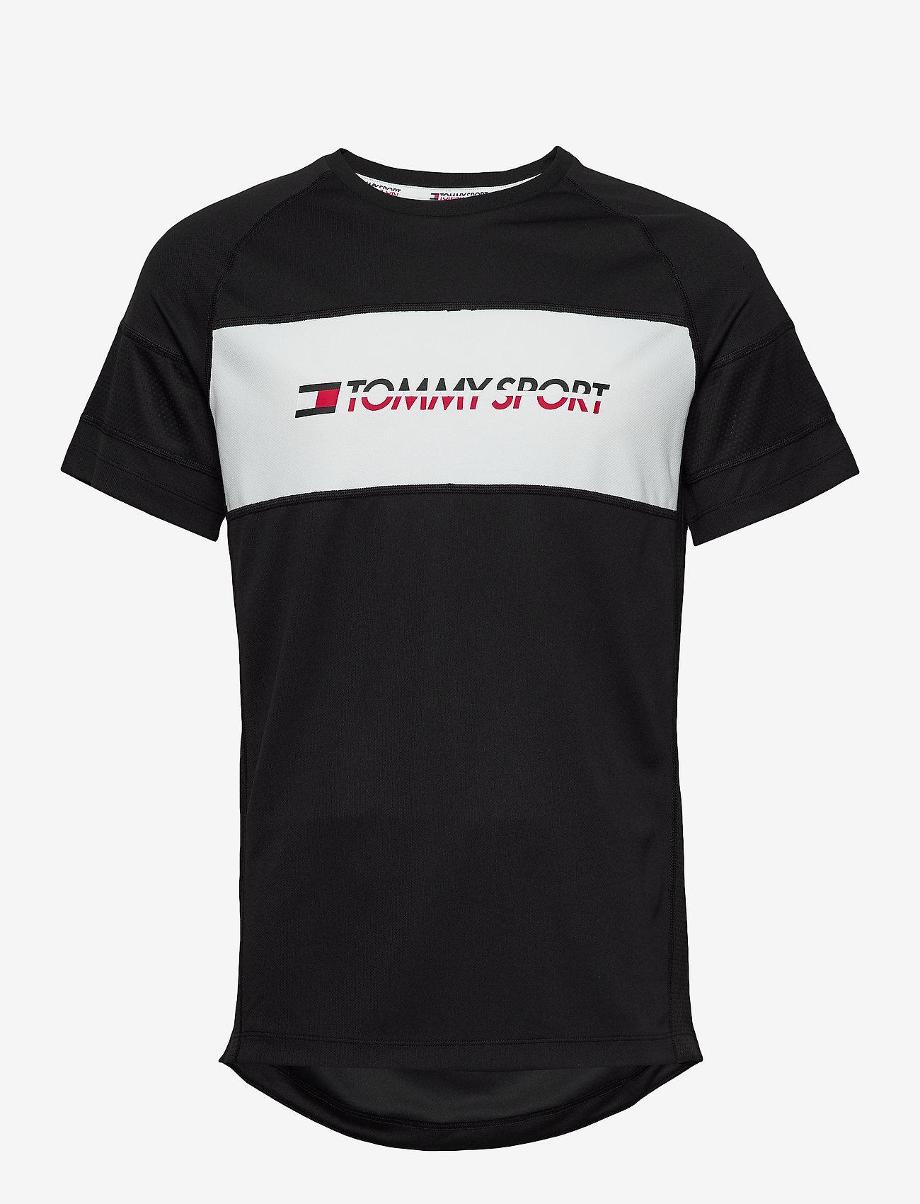 Tommy Sport - PERFORMANCE MESH TEE - t-shirts - pvh black - 0