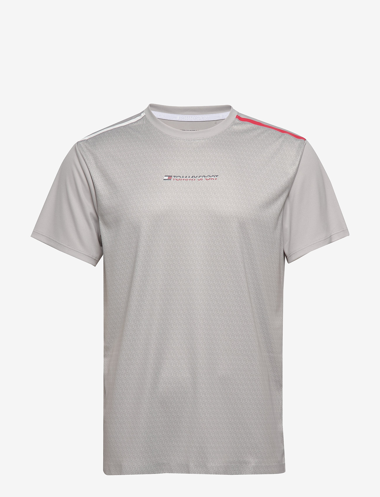 Tommy Sport - PERFORMANCE TEE - t-shirts - october grey - 0