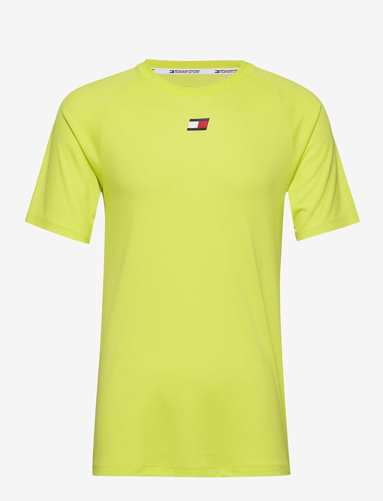 Tommy Sport - TRAINING MESH TOP - t-shirts - lemon lime - 0