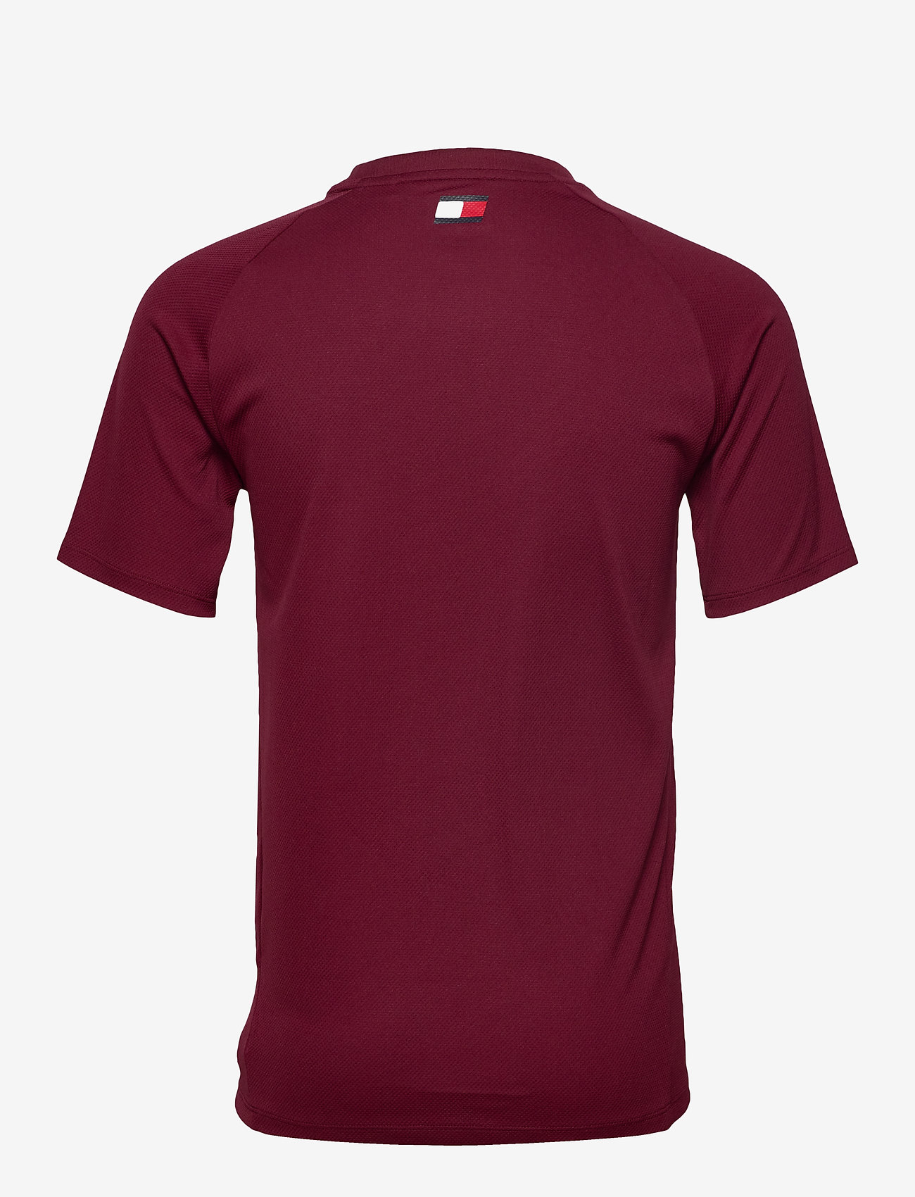 Tommy Sport - TRAINING TOP MESH LOGO - t-shirts - deep rouge - 1