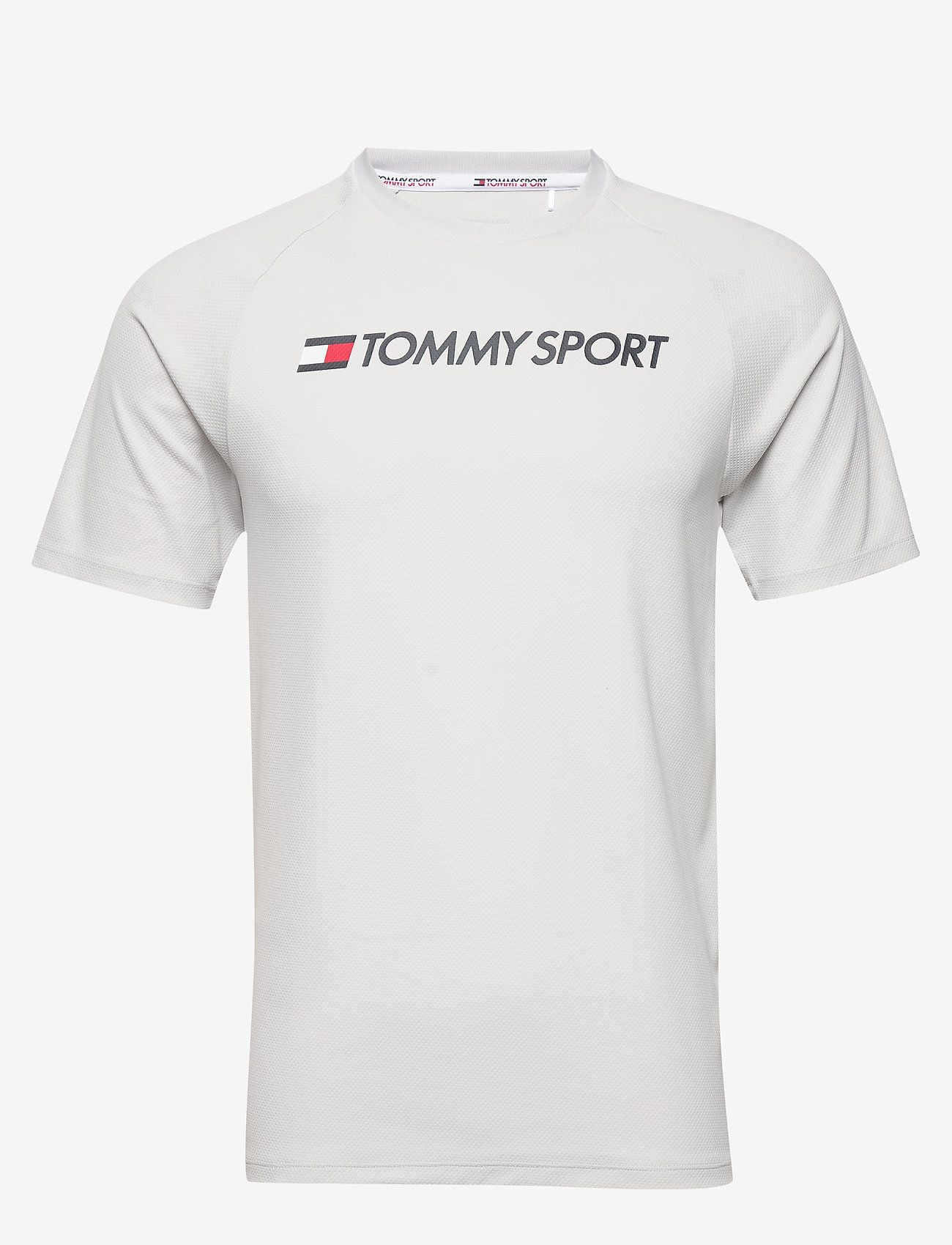 Tommy Sport - TRAINING TOP MESH LOGO - t-shirts - light cast - 0