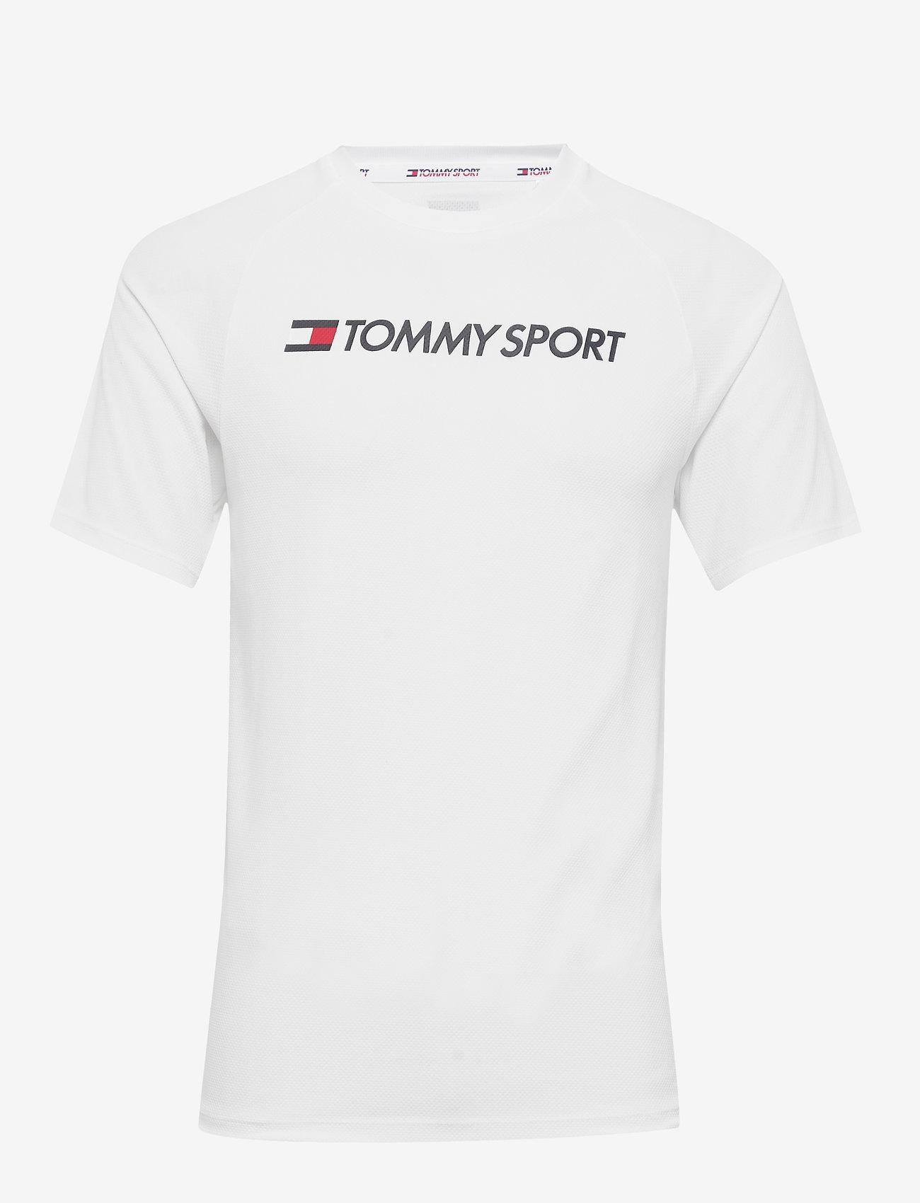 Tommy Sport - TRAINING TOP MESH LOGO - t-shirts - white - 0