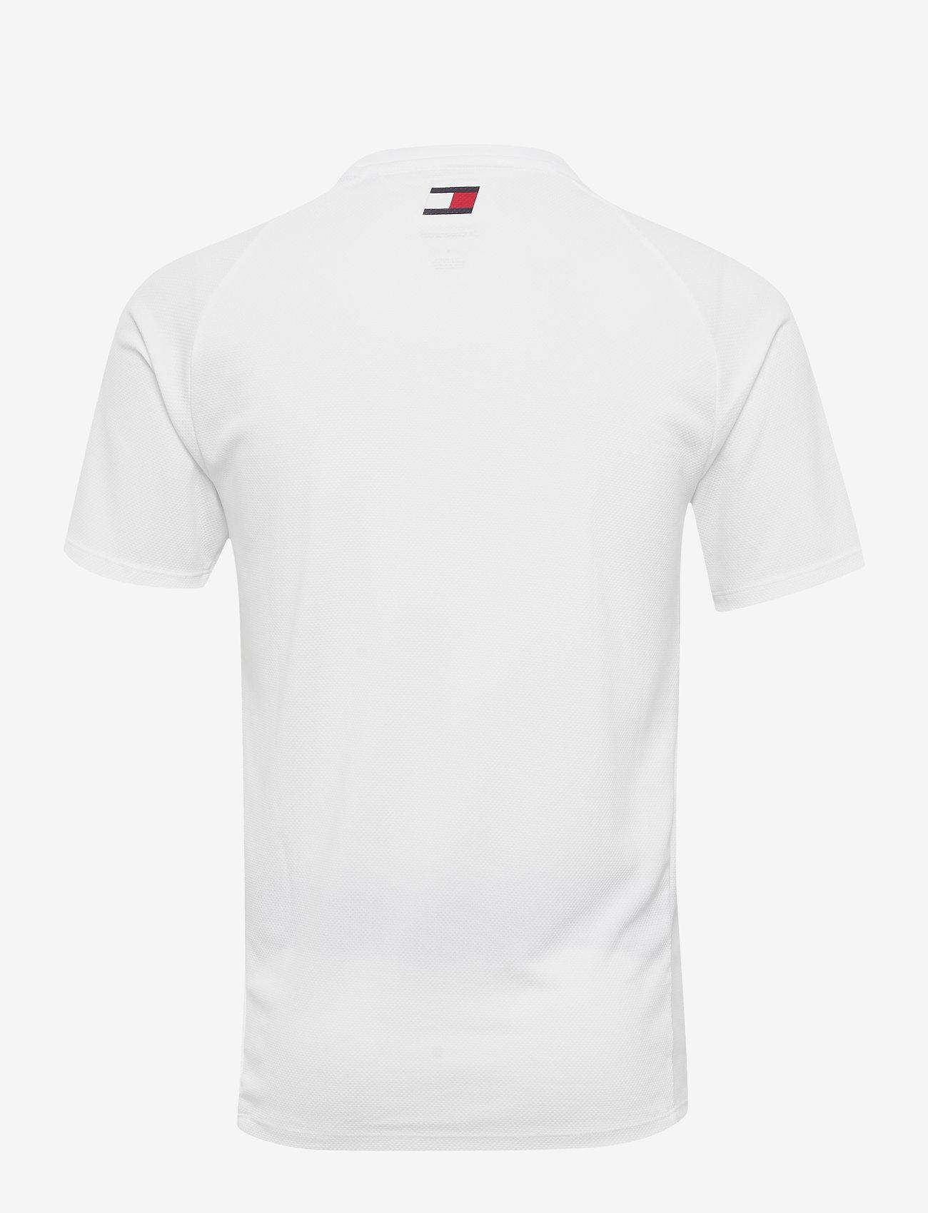 Tommy Sport - TRAINING TOP MESH LOGO - t-shirts - white - 1