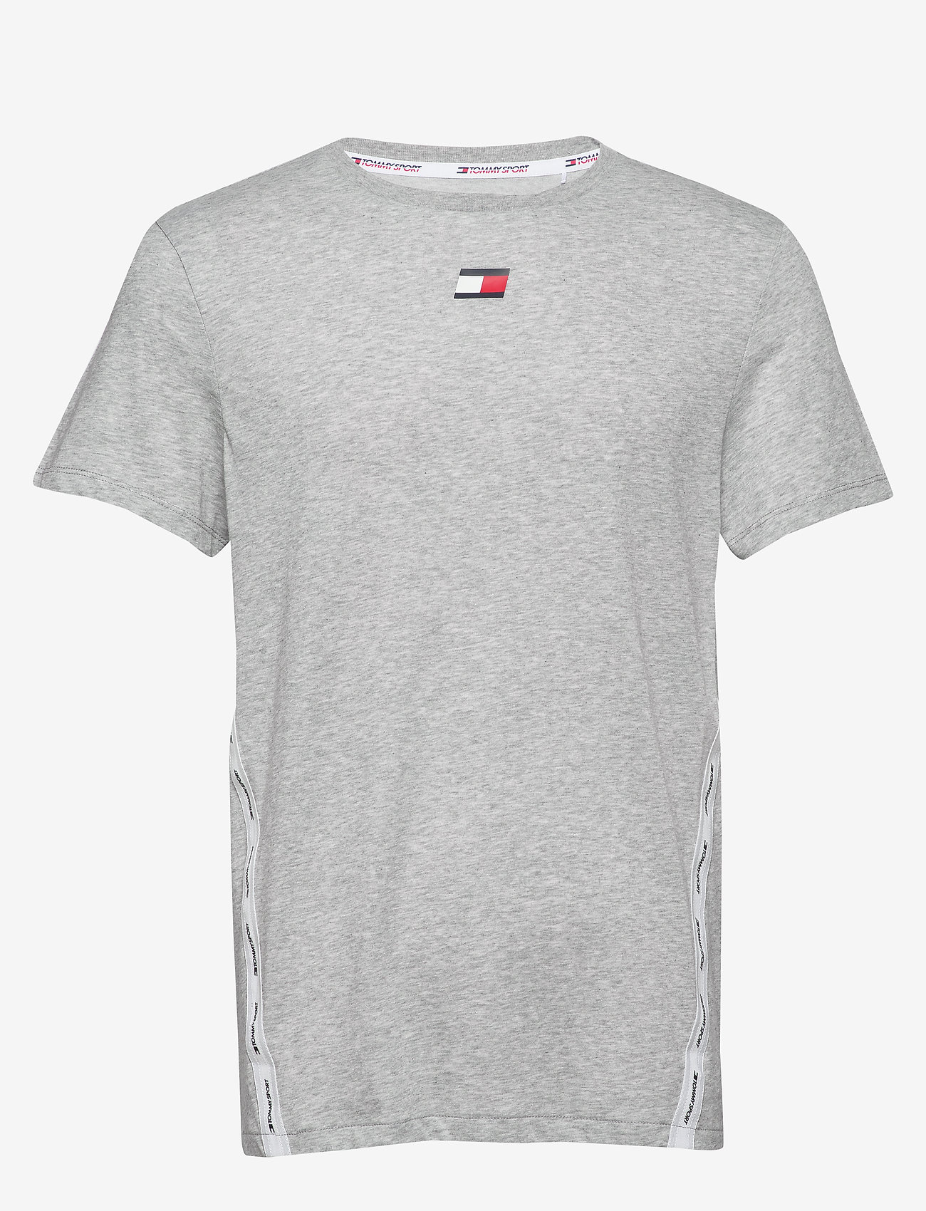 Tommy Sport - TAPE LOGO TOP - t-shirts - grey heather - 0