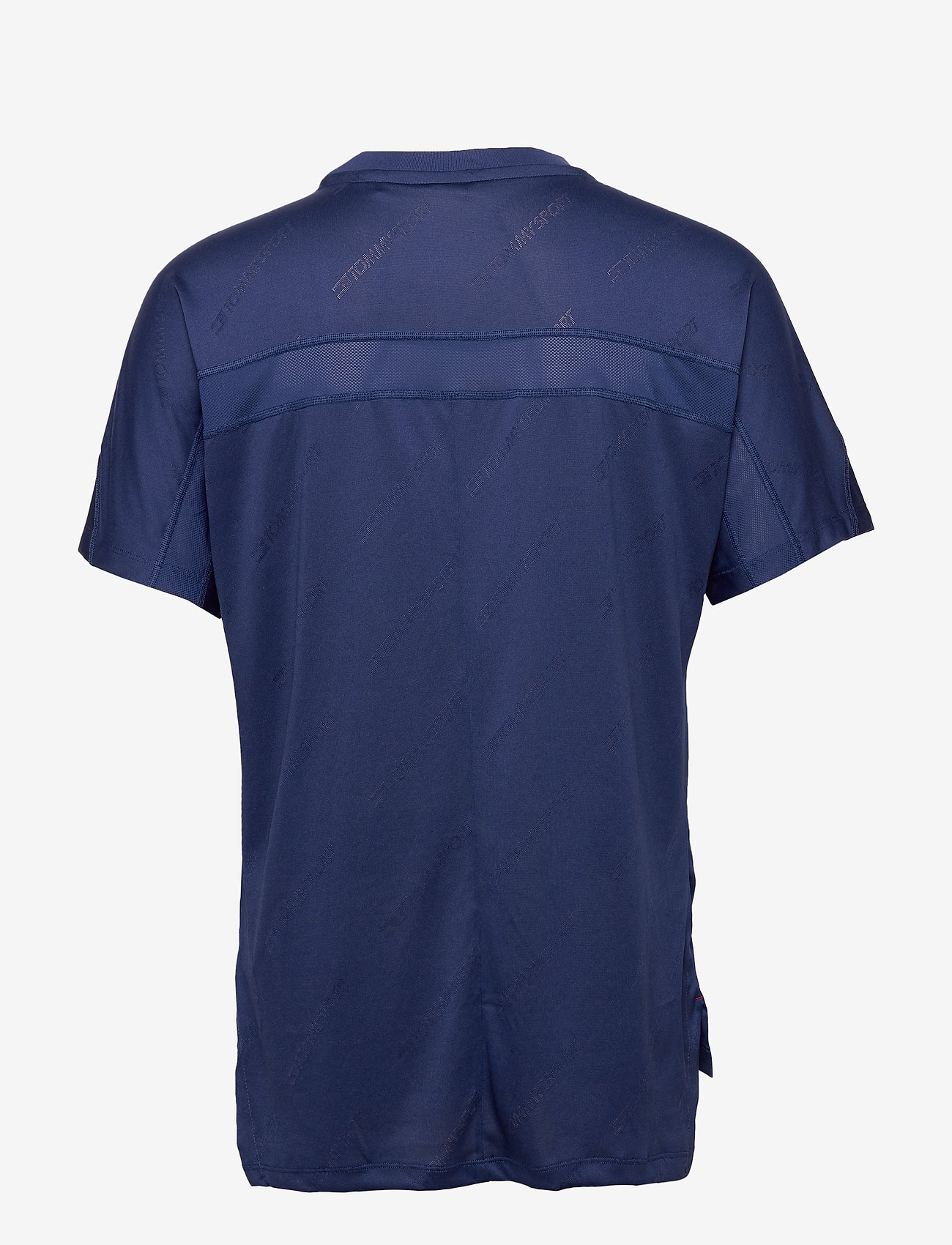 Tommy Sport - JACQUARD TRAINING TOP - t-shirts - blue ink - 1