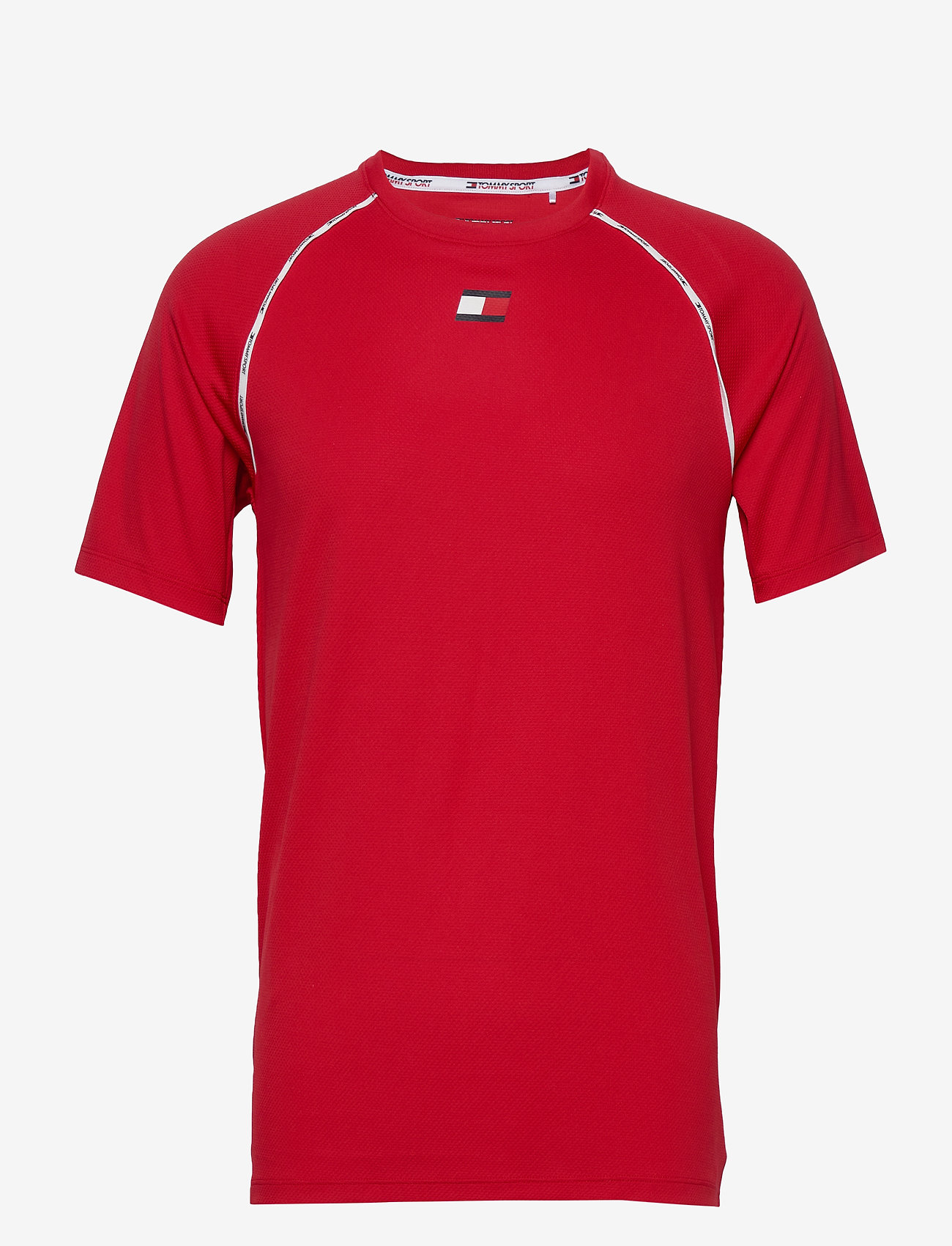 Tommy Sport - PIPING TRAINING TOP - t-shirts - primary red - 0