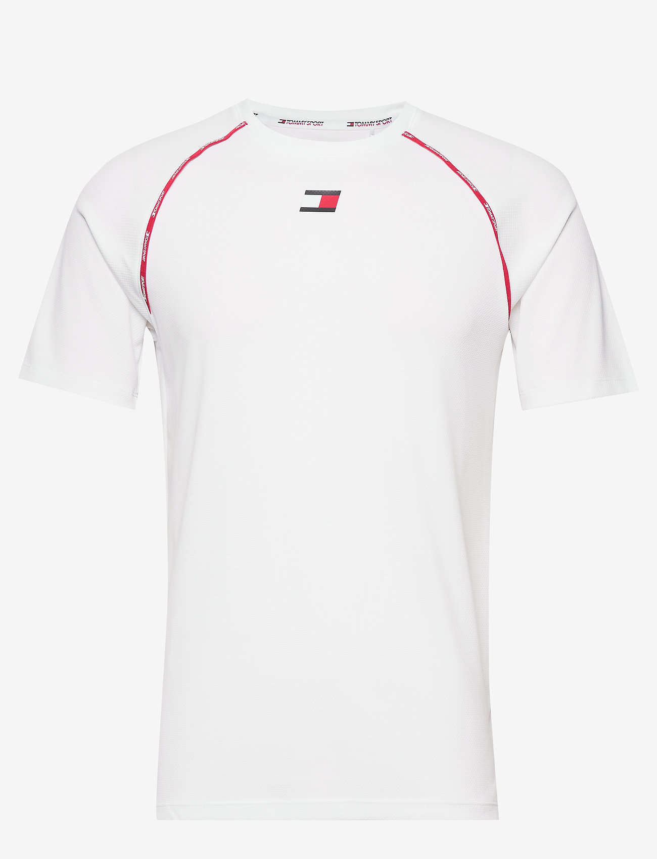Tommy Sport - PIPING TRAINING TOP - t-shirts - white - 0