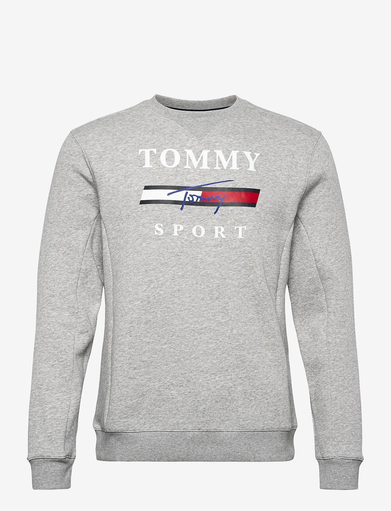 Tommy Sport - GRAPHIC FLEECE CREW - tops - grey heather - 0