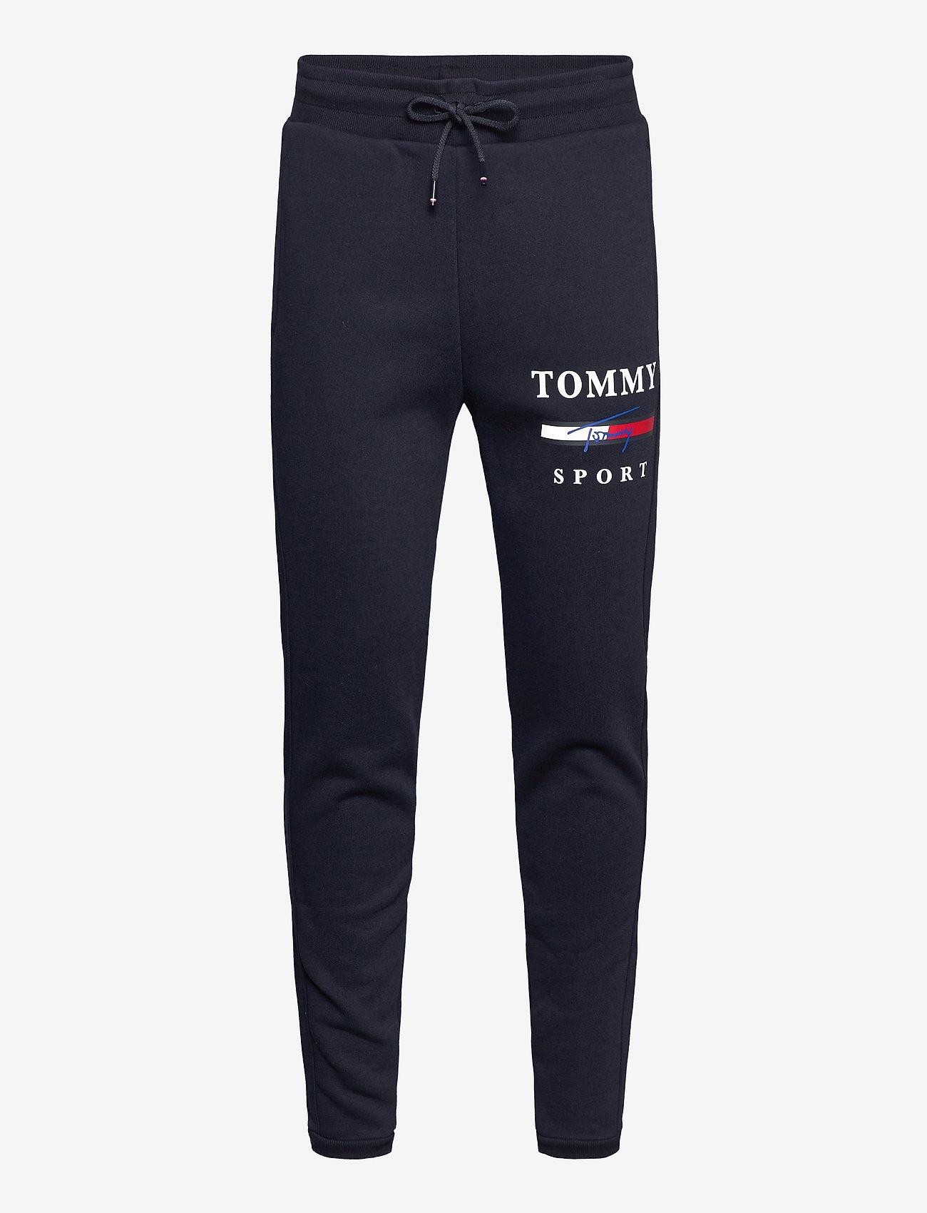 Tommy Sport - GRAPHIC FLEECE PANT CUFFED - sports pants - desert sky - 0