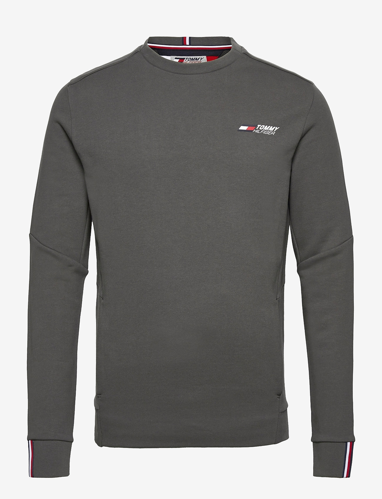 Tommy Sport - TERRY LOGO CREW - clothing - dark ash - 0