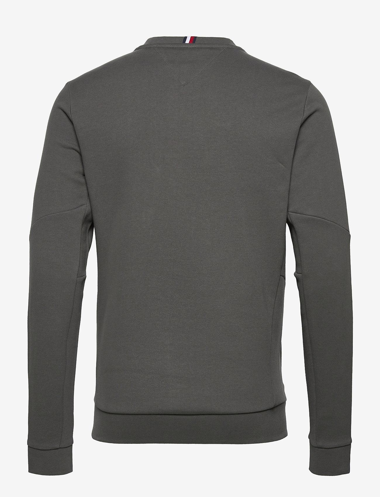 Tommy Sport - TERRY LOGO CREW - clothing - dark ash - 1