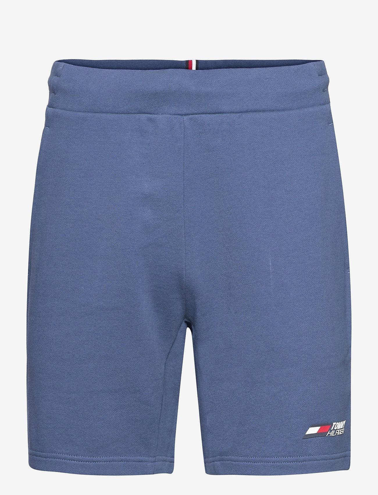Tommy Sport - TERRY LOGO SHORT - casual shorts - indigo blue - 0